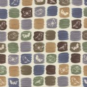 Moda A Field Guide by Janet Clare - 3573 - Field motifs on colour swatches - 1362 11 - Cotton Fabric